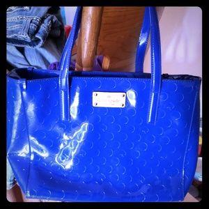 Kate spade statement bag royal blue medium